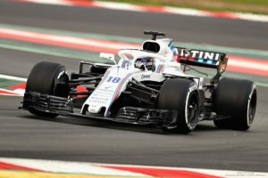 Lance Stroll Williams Martini Racing testy Barcelona