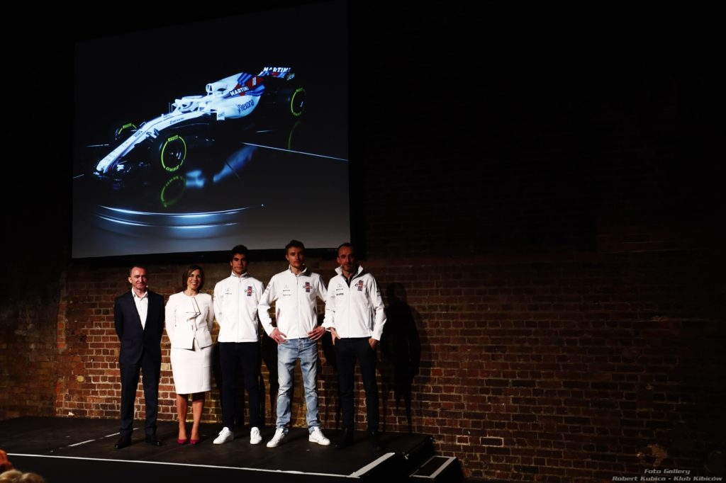 Prezentacja Fw41 Williams Martini Racing 2018 - Stroll Sirotkin Kubica