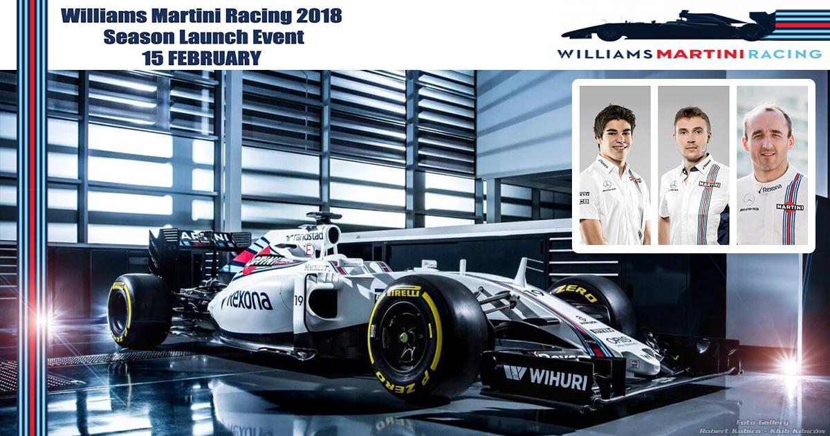 Prezentacja bolidu F1 i kierowców Williams Martini Racing