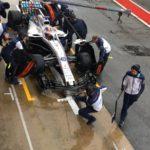 Robert Kubica testy Barcelona środa -7