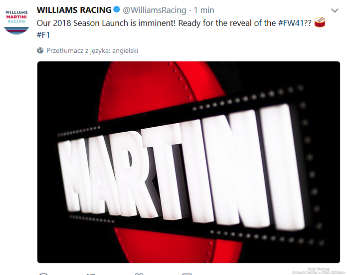 Williams Martini Racing Prezentacja 2018