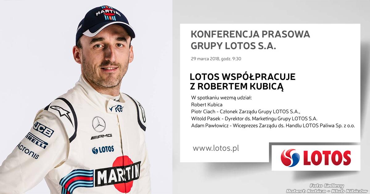 Kubica i Lotos – znów razem Konferencja w Warszawie