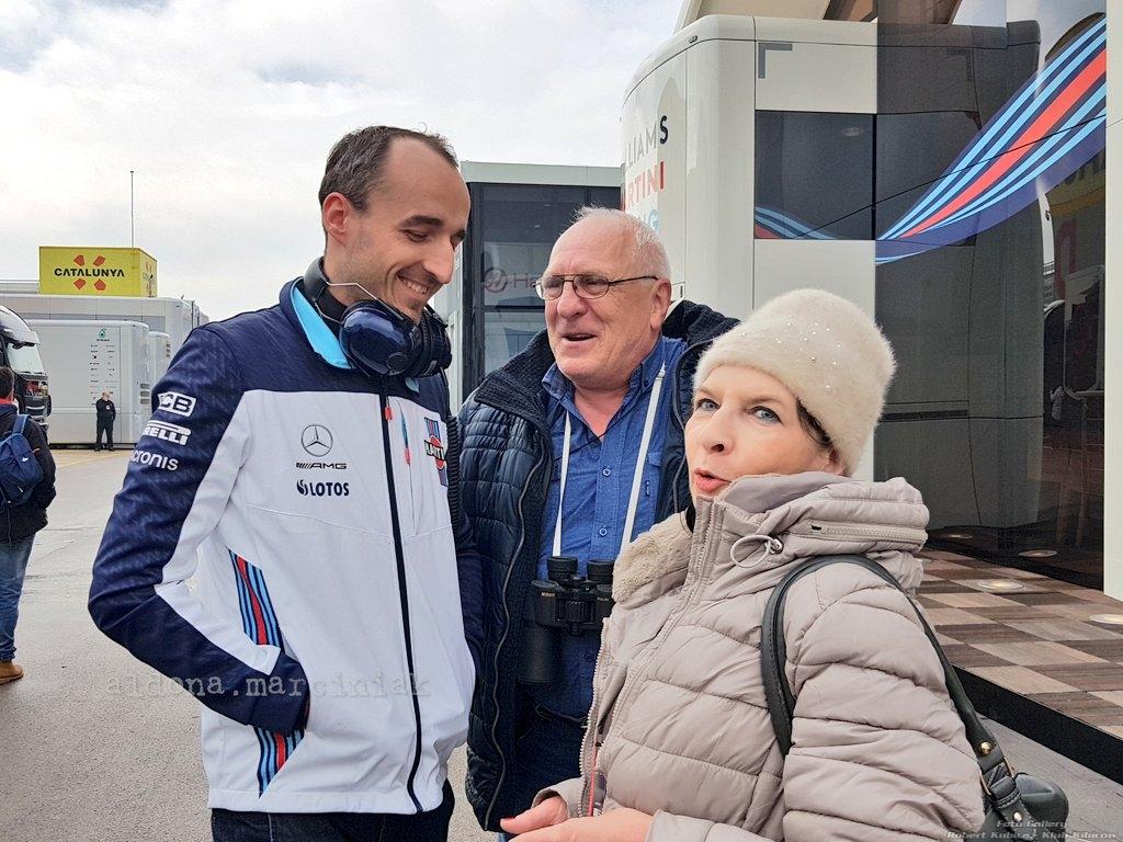 Robert Kubica testy Barcelona 1.03-3