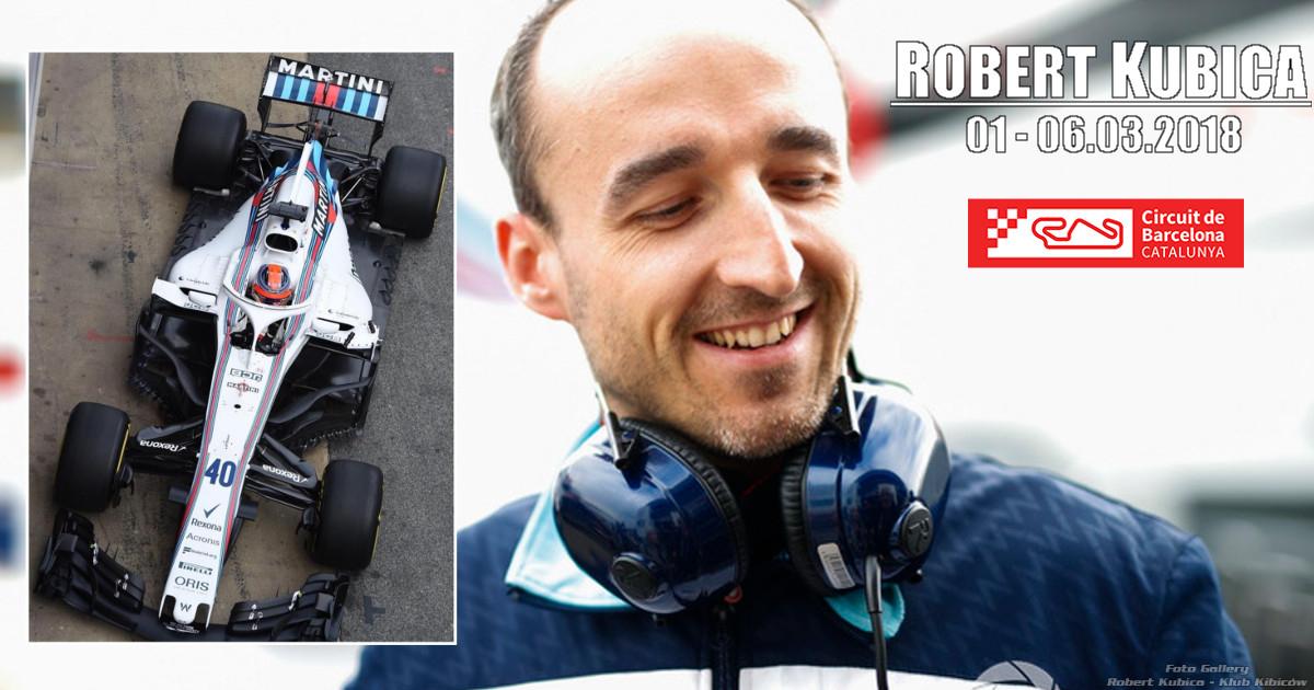 Robert Kubica – Druga sesja testów w Barcelonie – dzień 1