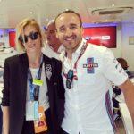 Robert Kubica i Anja Rubik - Grand Prix Monaco 2018