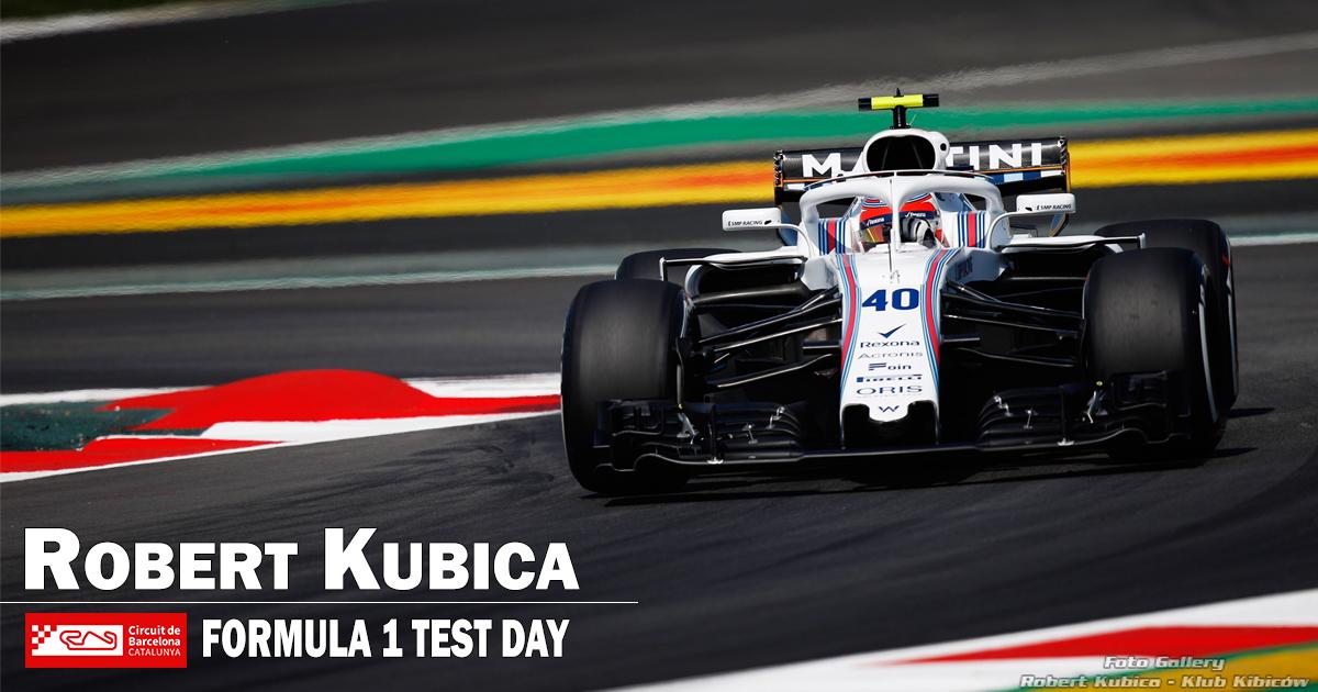 Robert Kubica w sezonowych testach F1 w Barcelonie