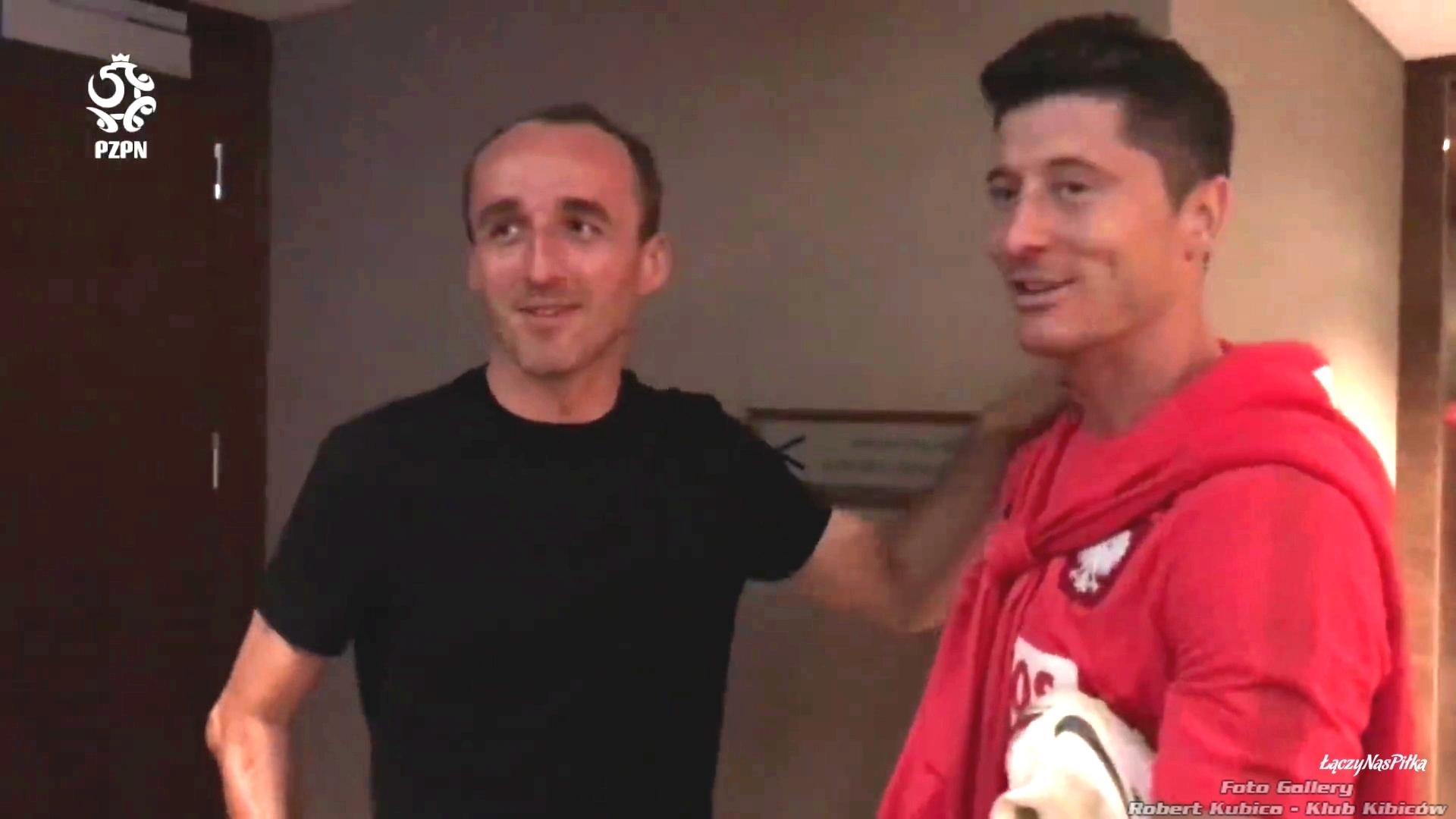 Kubica i Lewandowski mecz Polska Litwa