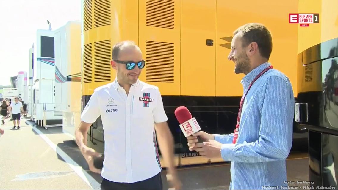 Robert Kubica - testy Hungaroring 2018