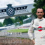 Robert Kubica na Festiwalu Prędkości FOS Goodwood z Martini 2018