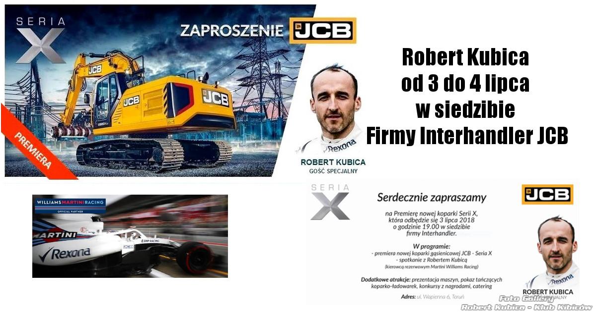 Robert Kubica w siedzibie firmy Interhandler JCB już dziś