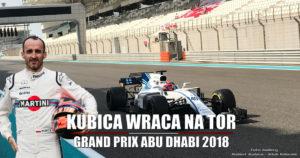 Robert Kubica w FP1 - Formuła 1 Grand Prix Abu Dhabi 2018