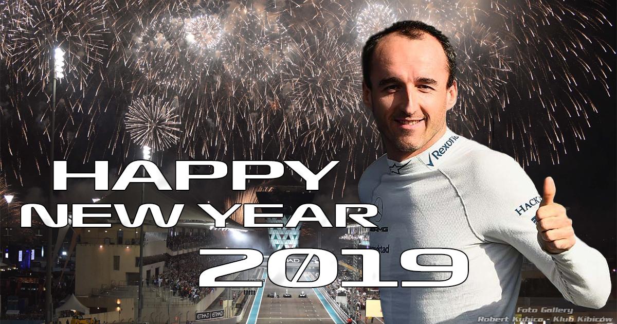 """Robert Kubica """"Życzę wam wszystkim wszystkiego najlepszego w 2019 roku."""""""