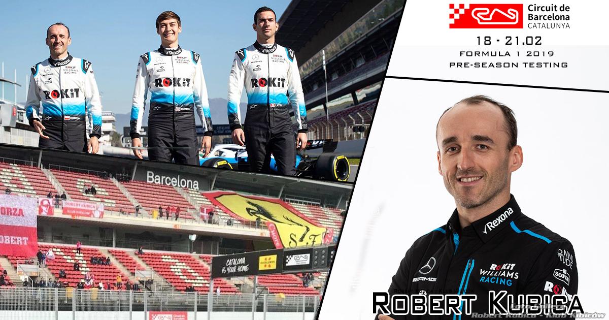 Robert Kubica - Przedsezonowe testy F1 w Barcelonie 2019 : Dzień 1